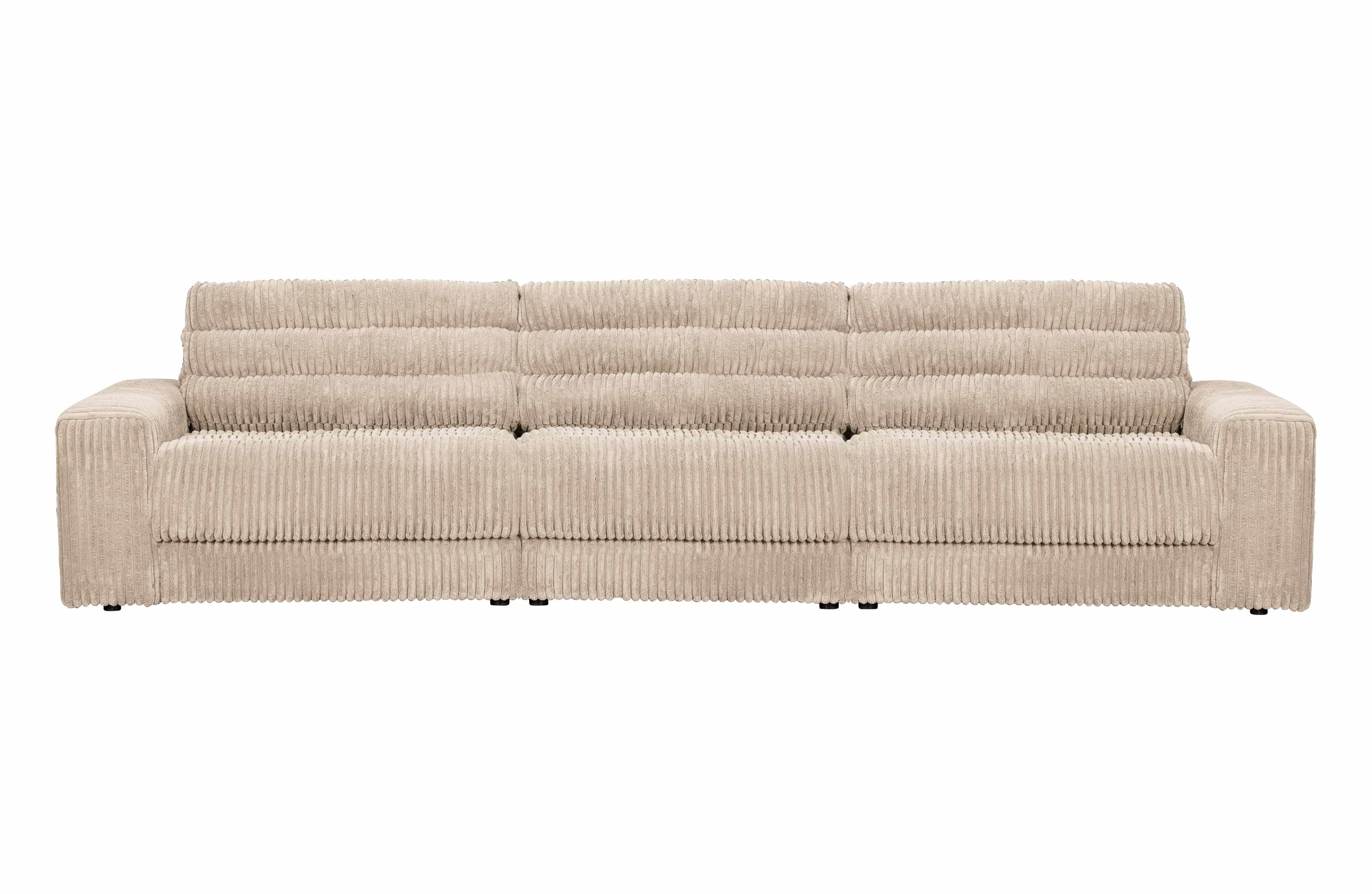 BePureHome Date Polstersofa 3-sitzer ribcord creme