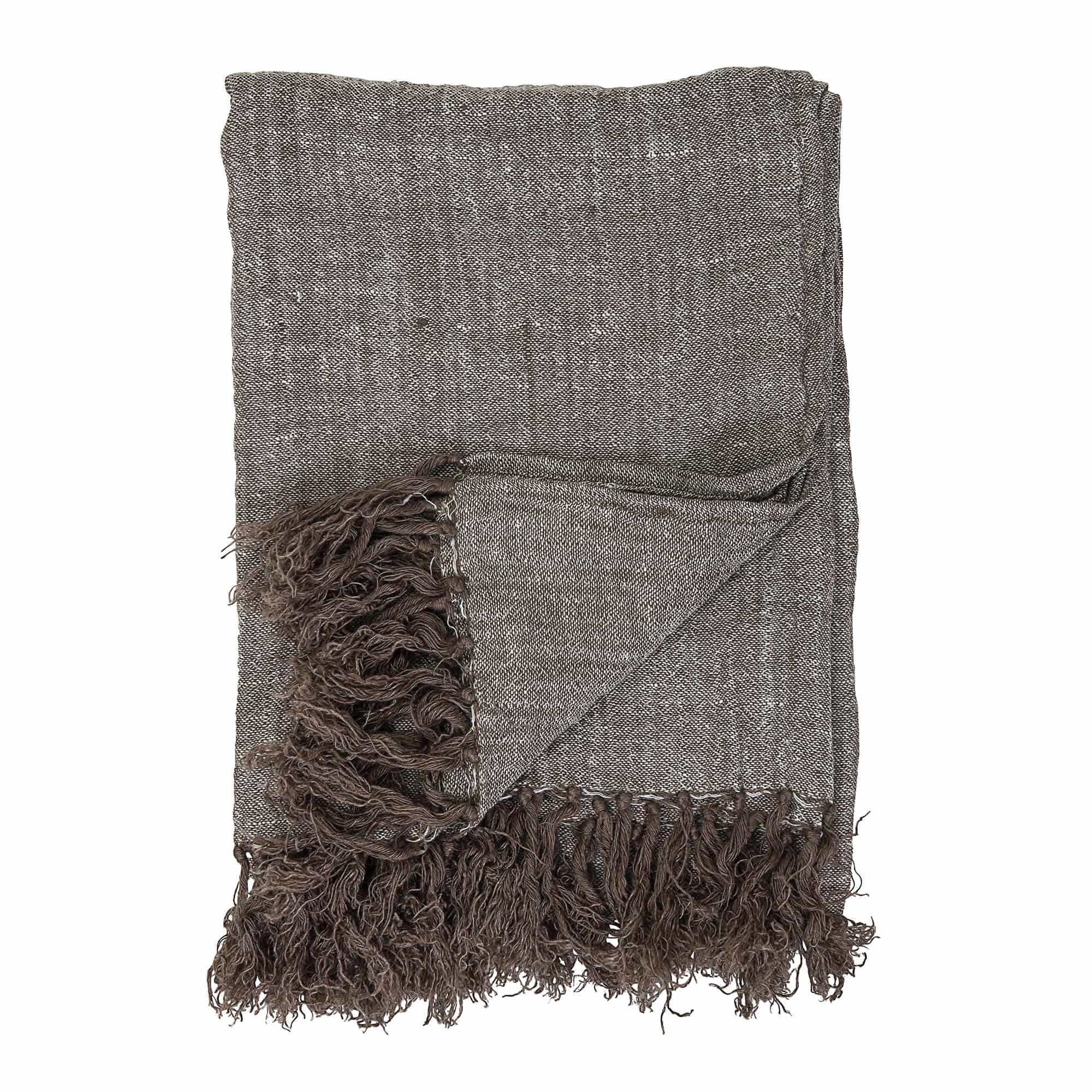 Timmo Throw, Brown, Linen