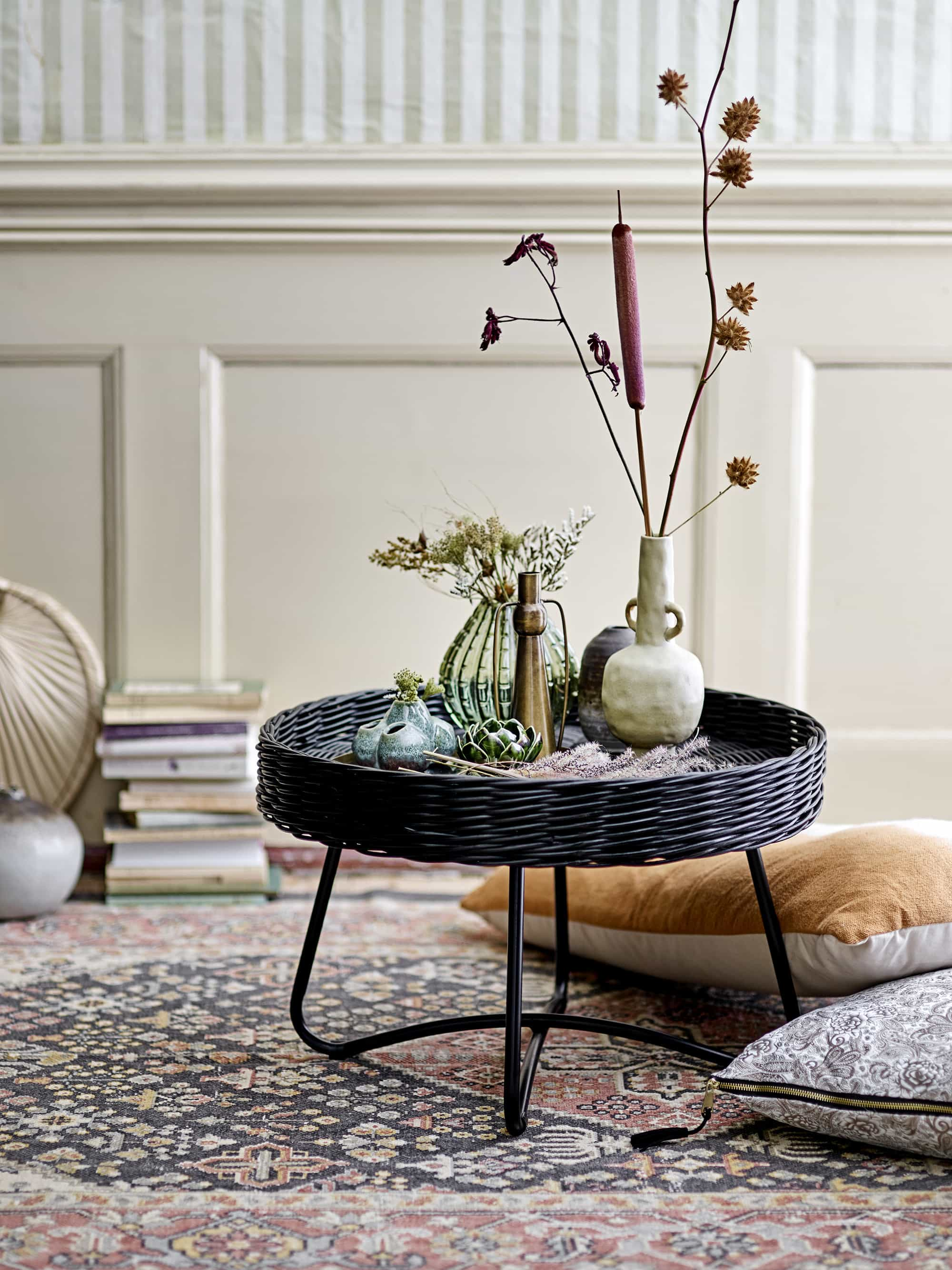 Hattie Coffee Table Black Rattan