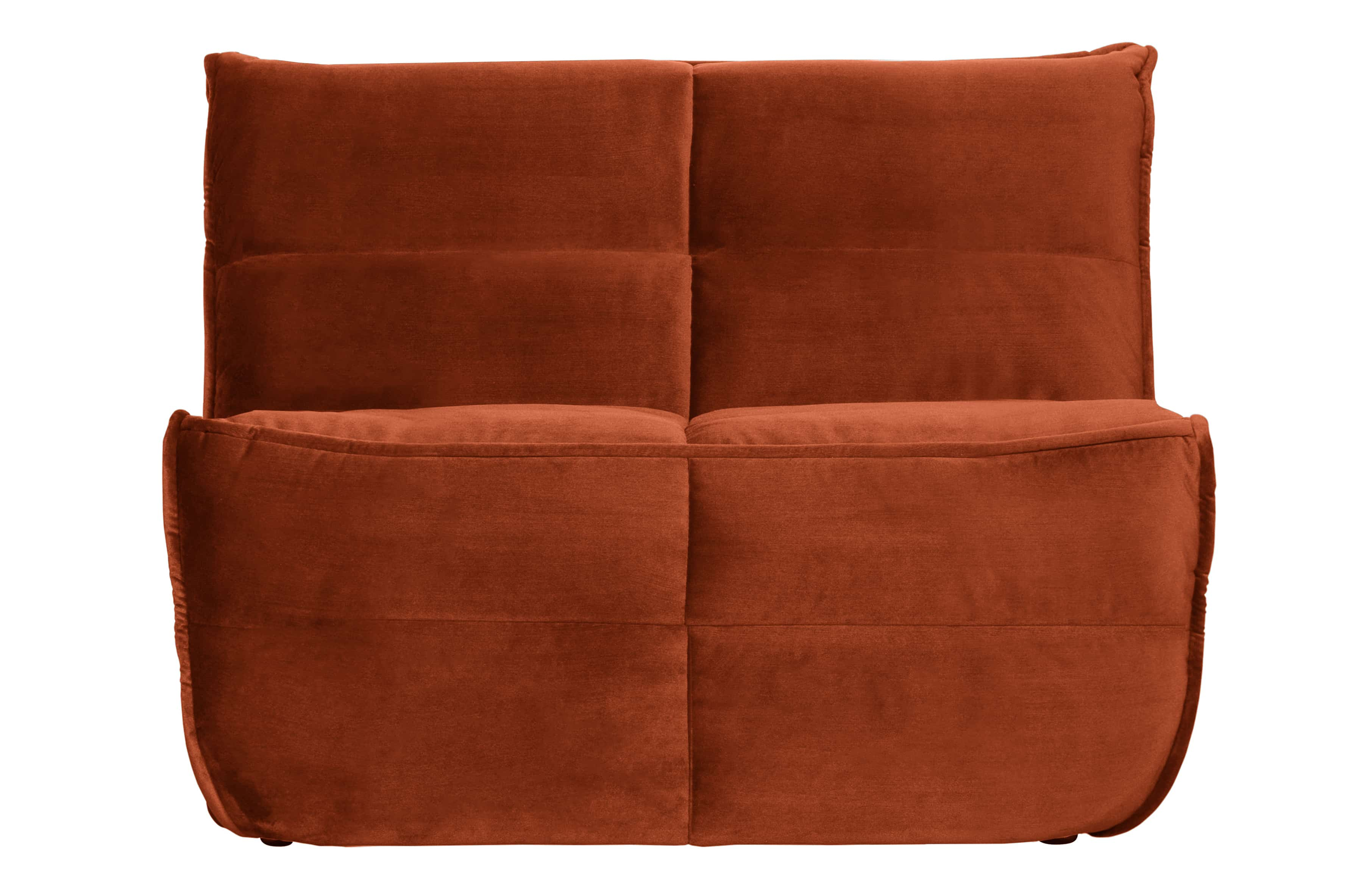 Cluster 1-seater Sofa Glanz Samt Rost