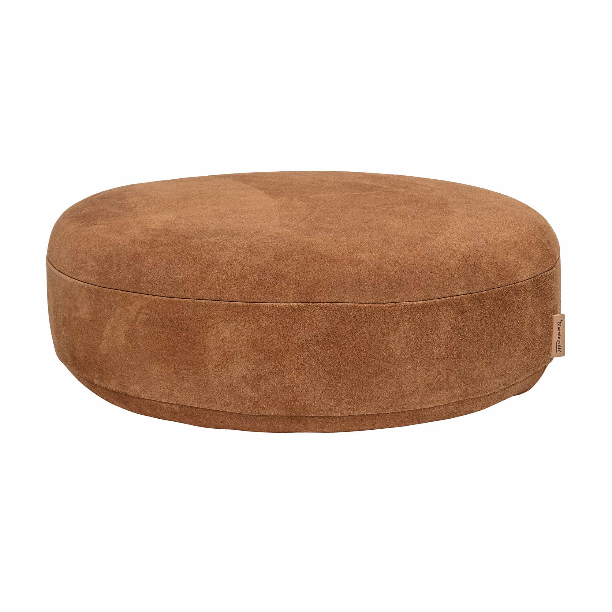 Time Pouf Brown Suede