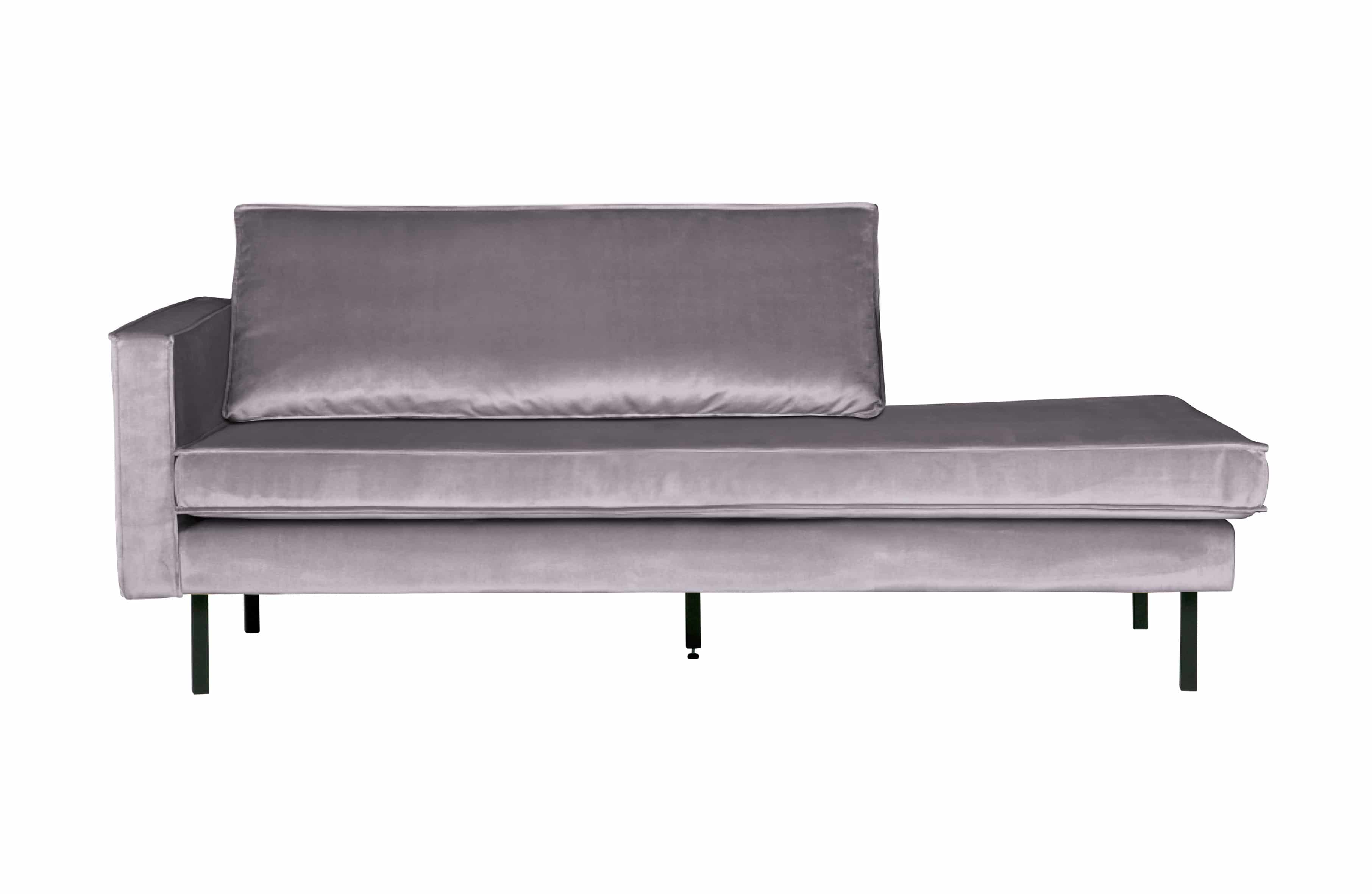 Daybed Rodeo links hellgrau Samt