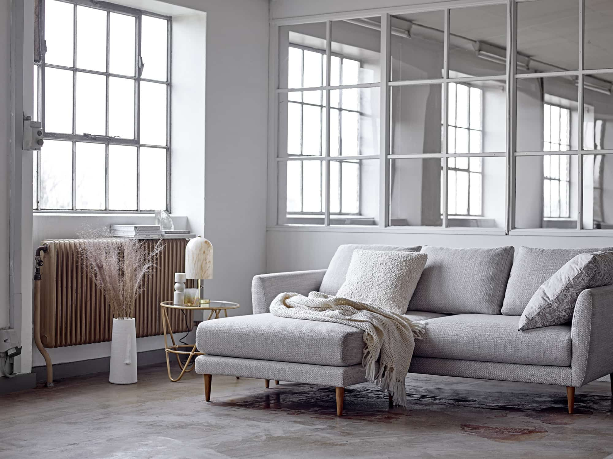 Miles Sofa Nature Polyester