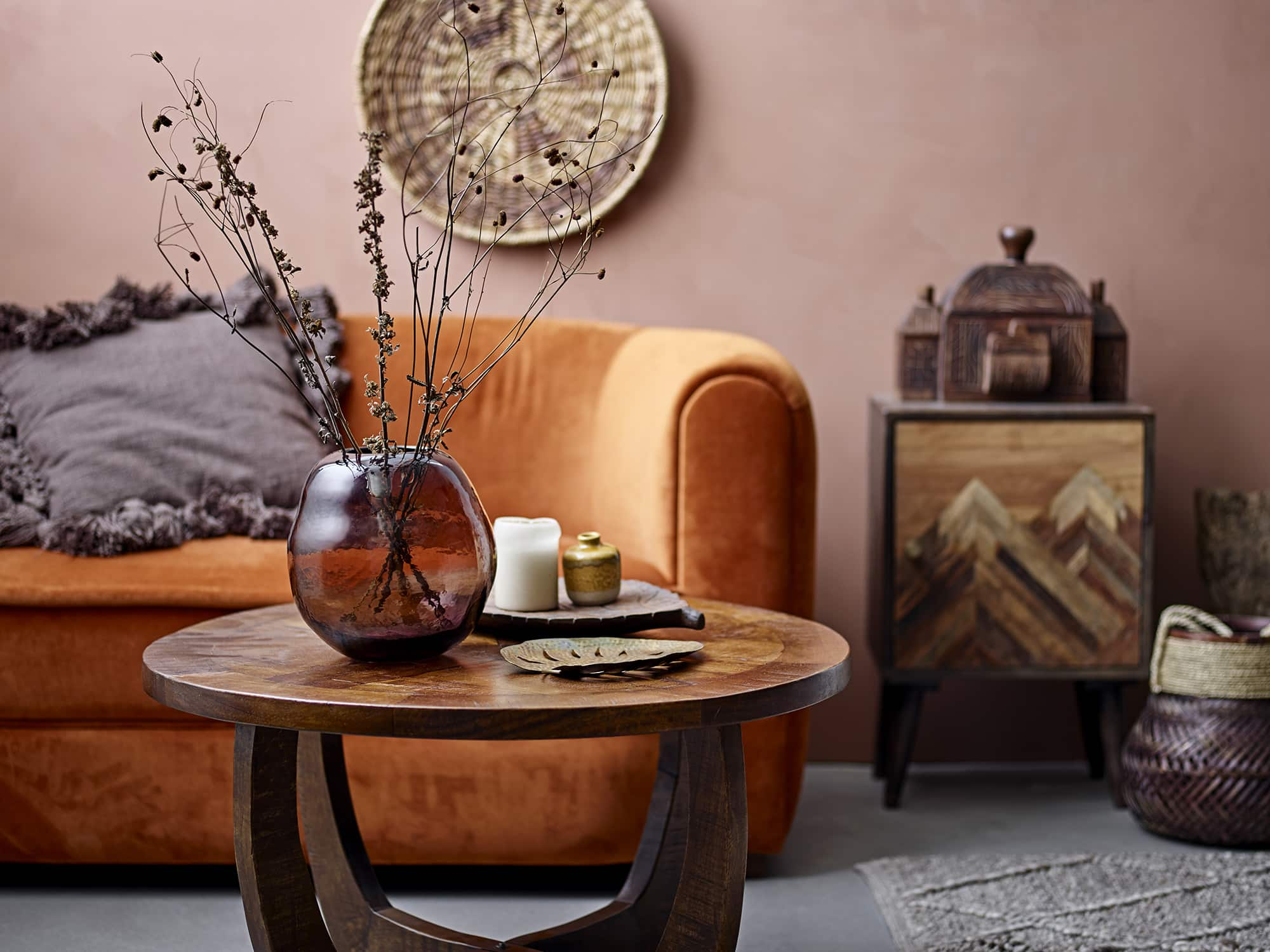 Jassy Coffee Table Brown Mango