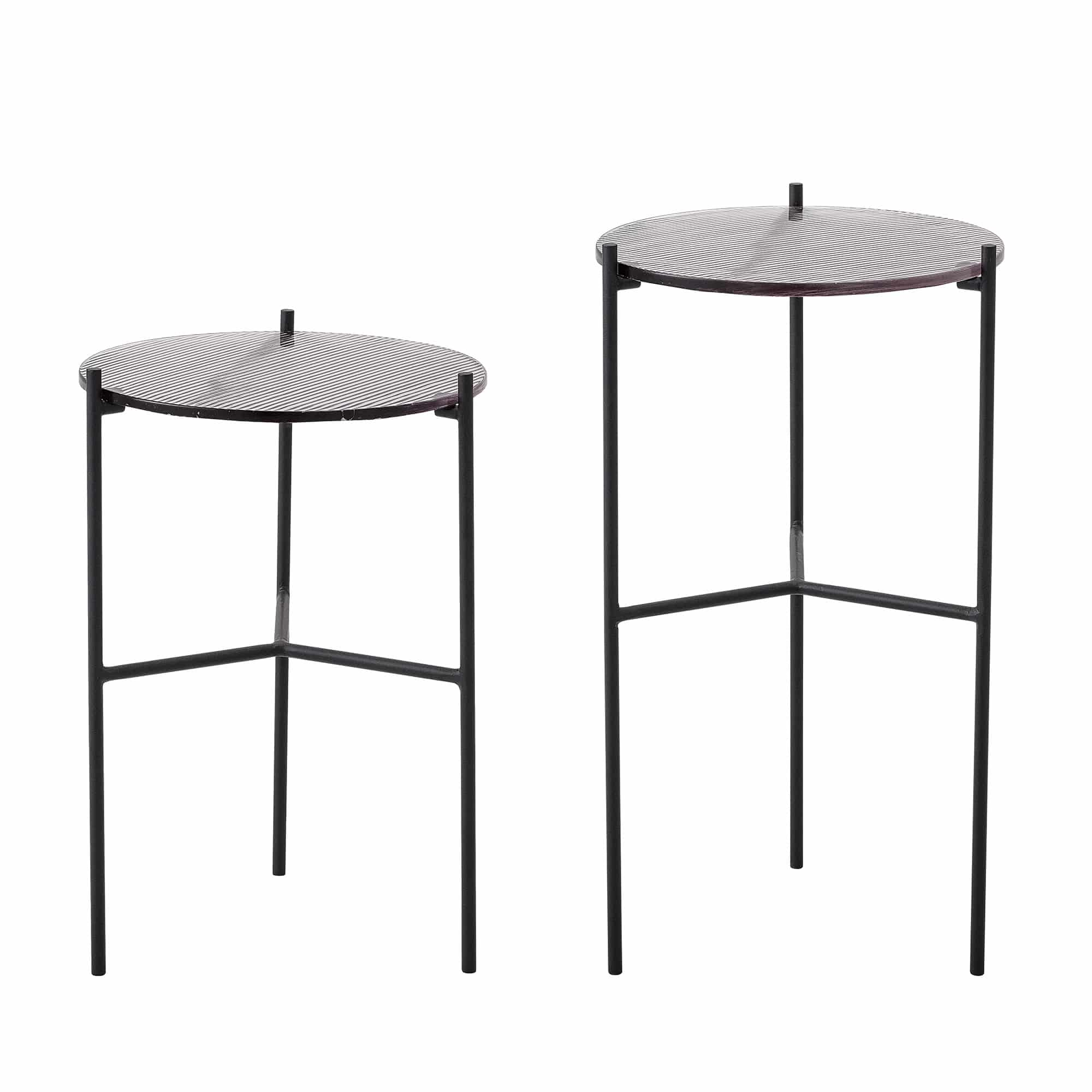 Cille Sidetable Grey Glass