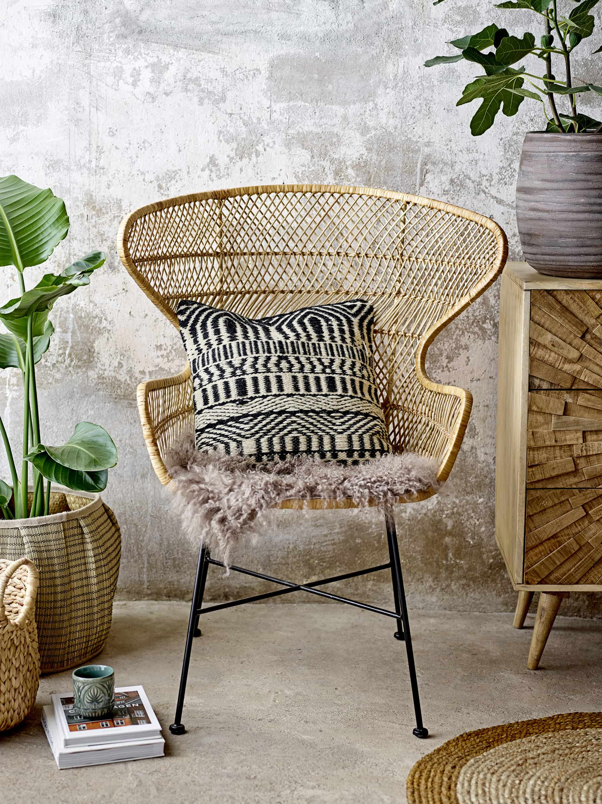 Oudon Lounge Chair Nature Rattan