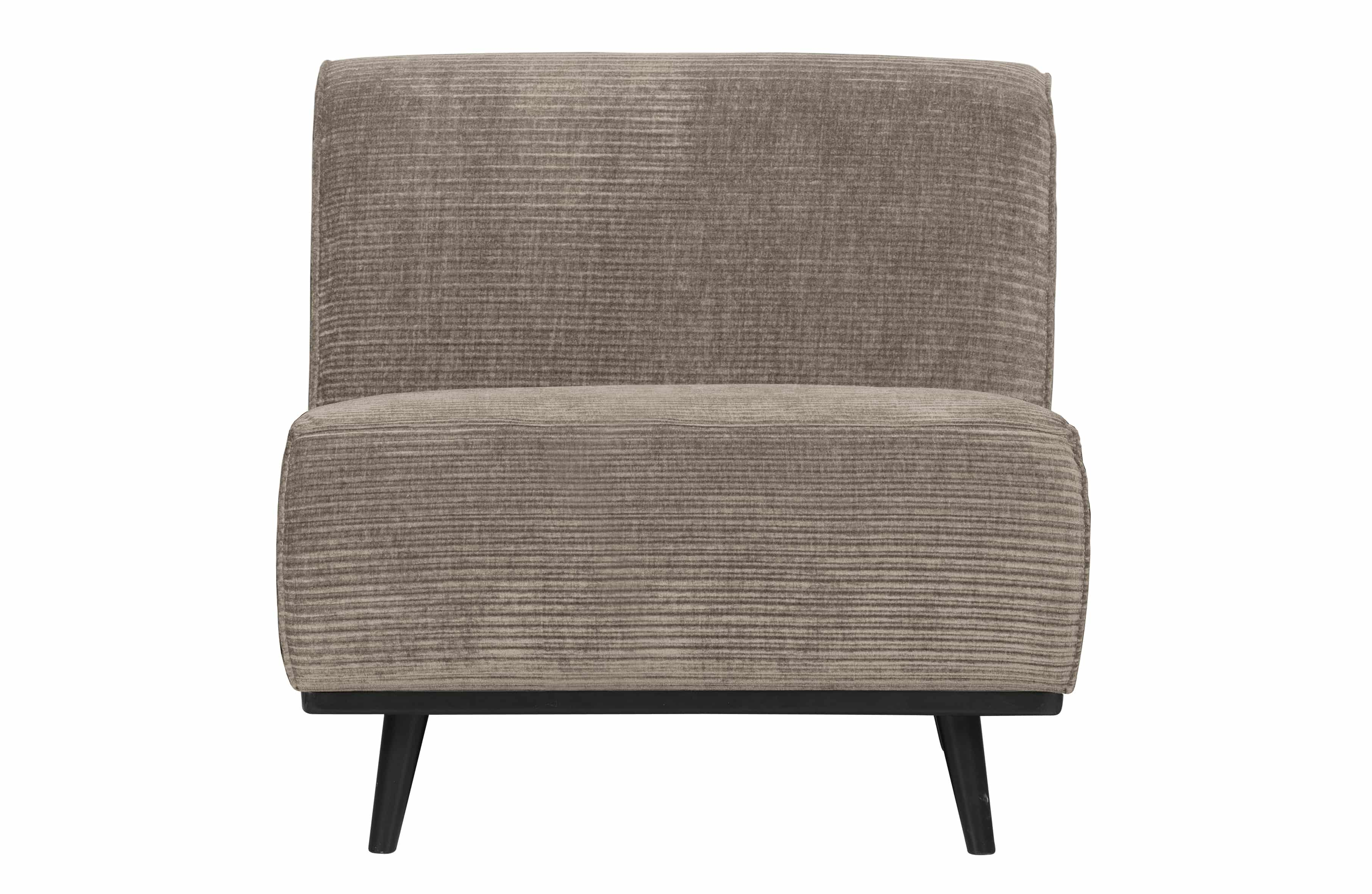 Statement 1-seater Element Flach Rippe Clay