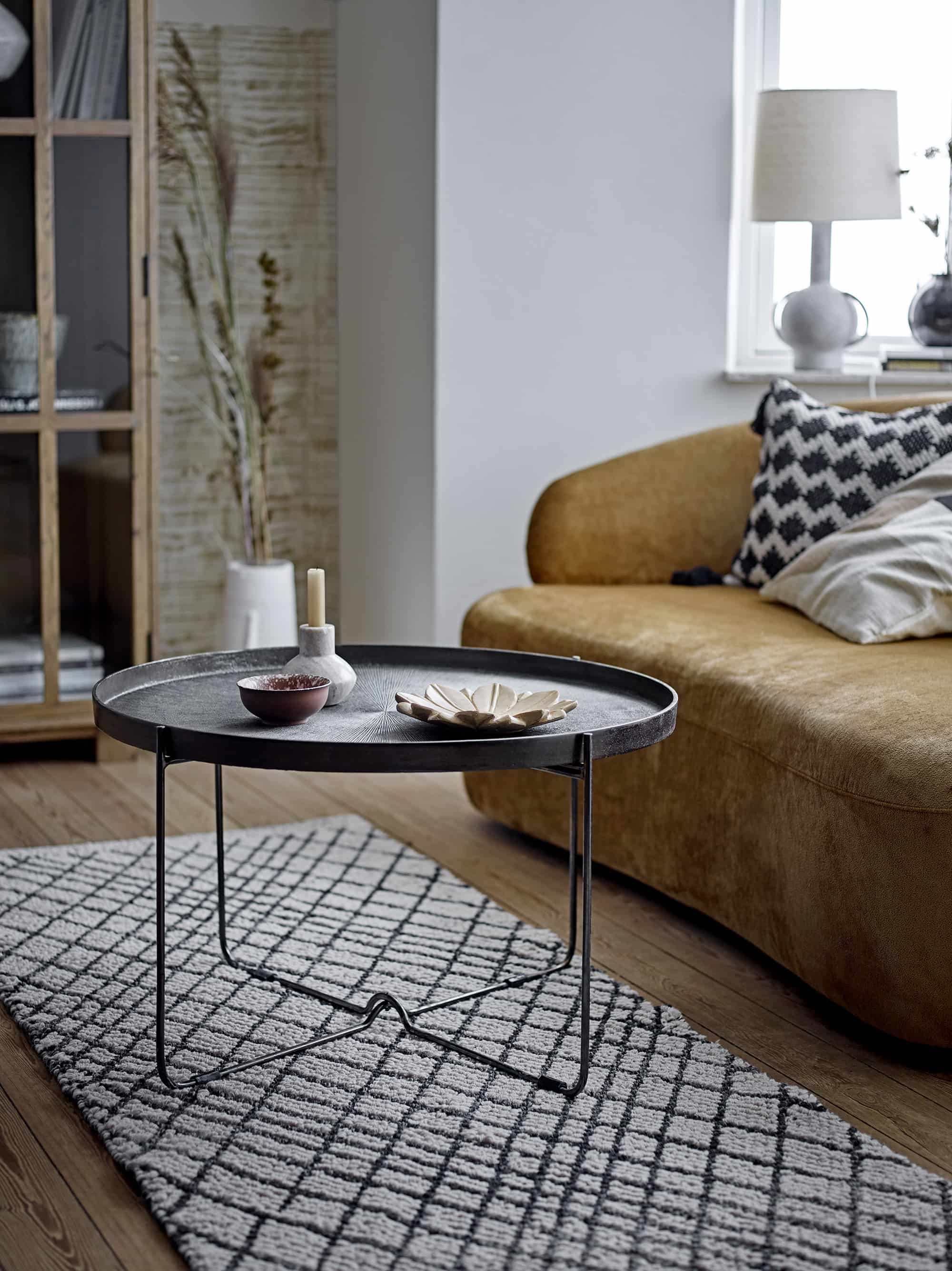 Carli Coffee Table Black Aluminum